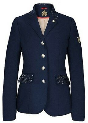 Exquisite Fair Play Ladies Vivienne  Classical Softshell Show Jacket In Navy