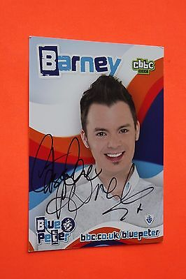 Barney Harwood (Blue Peter) Signed Cast Card