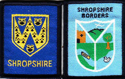 Boy Scout Badges SHROPSHIRE County+ BORDERS District