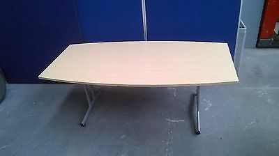 Maple Effect Barrel Boardroom Table, Meeting, Office, Conference,