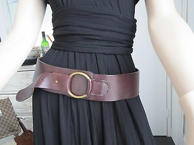 New Women's Leather Brown Belt - Small