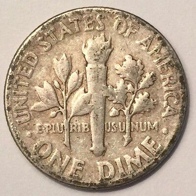 1952-D U.S.A One Dime, Roosevelt coin