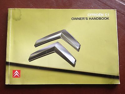 Citroen C1 Handbook Owners Manual 2005 2008