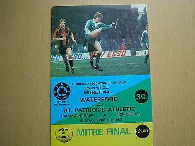 WATERFORD V ST. PATRICK'S ATHLETIC APR 1980 (FAI Cup Final)