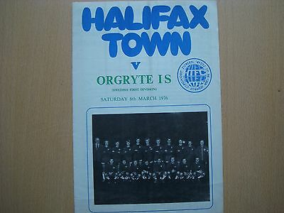 Halifax Town V Orgryte Is Mar 1976