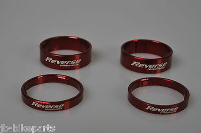 Reverse Spacer Set Alu rot ultra light 2x 5 und 2x 10 mm , Ahead 1 1/8""