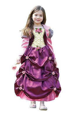 Girls Floral Countess Or Damson Duchess New Princess Fancy Dress Costume Outfit