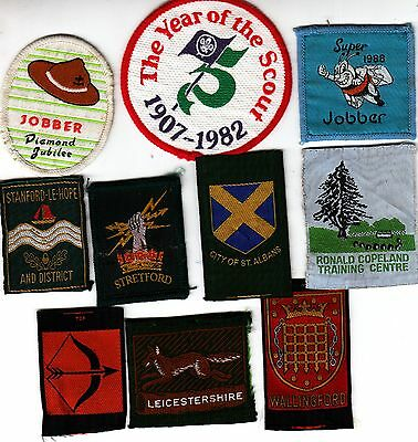 Boy Scout used Badges x 10