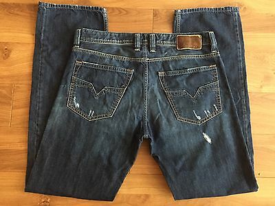 mens diesel larkee-relaxed comfort straight jeans w32 l32