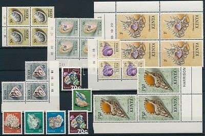 Kenya stamp 1971-1982 27 diff Minerals and snails 1971 MNH WS227600