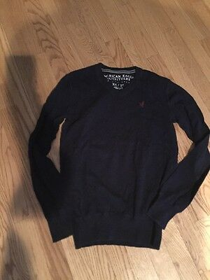 American Eagle Outfitters Sz XS V Neck Blue