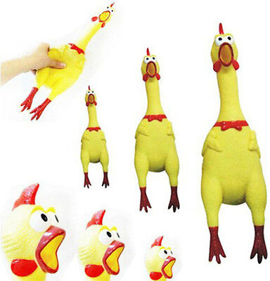 Cute Screaming Rubber Yellow Chicken Pet Dog Toy Squeak Squeaker Chew Cool