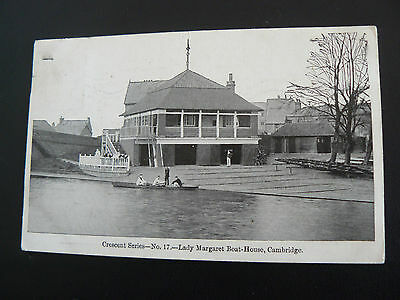 Lady Margaret Boat House Cambridge Postcard - Mr Aggas at Mellis in Suffolk 1915