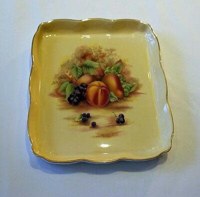 Aynsley Orchard Gold Gilded Square Dish Plate
