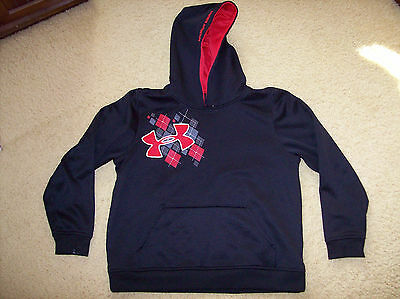 Pre-Owned Under Armour Loose Boy's Hooded Pullover Size Youth Large
