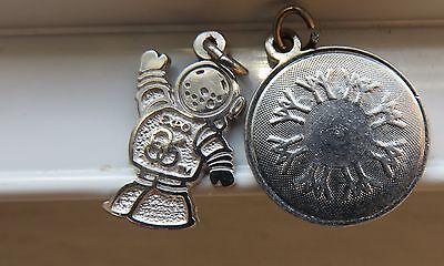 EXPO 67 86 - Worlds Fair Two Bracelet Charms Vintage Sterling Montreal 1967