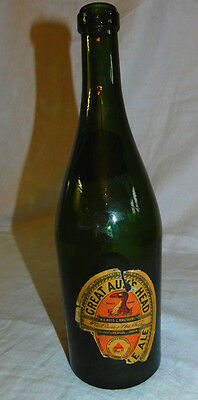 "Vintage Bottle ""GREAT AUK'S HEAD"" BASS & Co's PALE ALE with LABEL"