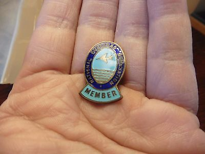 vintage NATIONAL OVERSEAS ASSOCIATION BADGE AIRCRAFT RELATED