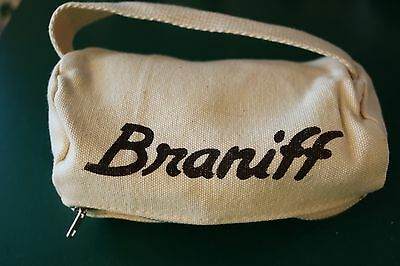 Vintage Braniff Personal Care In-Flight Canvas Kit