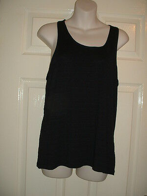 Ladies / Womans Lovely Sports Black Womans Gym / Running Top Size 14 Bnwt