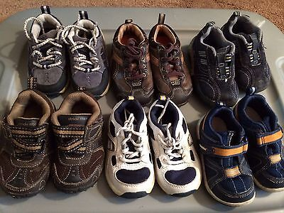 6 Lot Baby Toddler Boy Shoes Sneakers Stride Rite Tsukihoshi Size 5 Laces Velcro