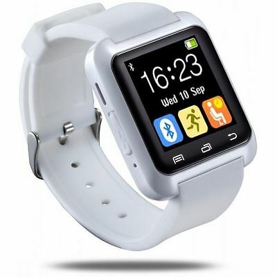 BLUETOOTH SMART WRIST WATCH PHONE FOR ANDROID & iOS - IPHONE SAMSUNG HTC WHITE