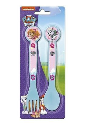 Paw Patrol Toddler 2 Piece Spoon & Fork Cutlery Set Blue