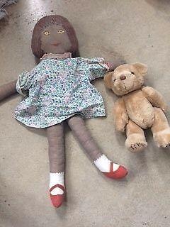 Clothkits Doll Vintage 1970s and Teddy