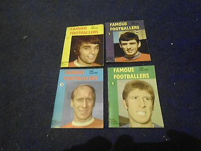 4 mini football monthly books late 60's