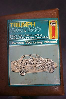 Triumph 1300 & 1500 1965 to 1974 Haynes Owners Workshop Manual