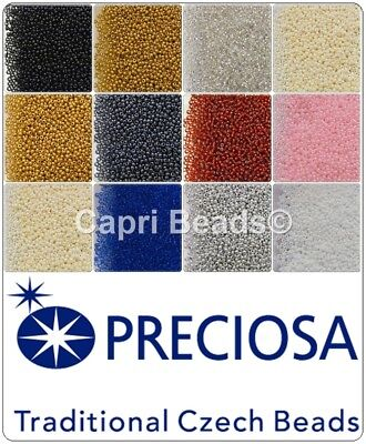 Size 8/0 Traditional Czech Glass Seed Beads  - 10g, 20g, 25g Packs, Bead Weaving