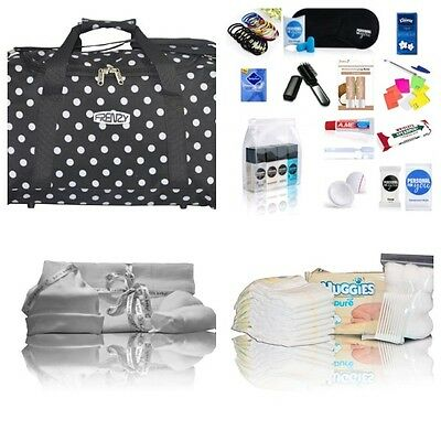 Black spot pre-packed Luxury hospital/maternity bag Mum& Baby NEXT DAY DELIVERY!