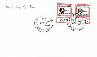 1971 env Local/Cinderella Postal Strike Belmont Su Osborne Recorded 10/- 2/- FDC