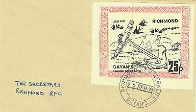 1971 env Local/Cinderella Postal Strike Dayans Richmond large 25p stamp
