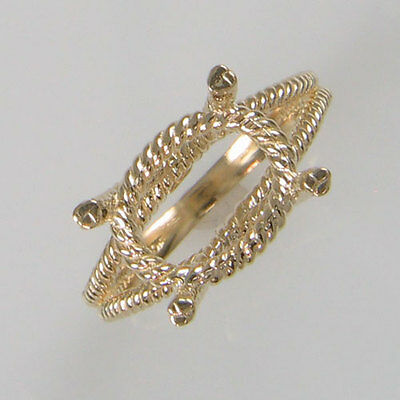 Prenotched 12X10 Oval Solitaire Ring Cast In 10K Yellow Gold Size 7 Cr5605-10Ky
