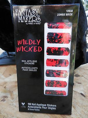 Wet n Wild Fantasy Makers WILDLY WICKED 18 Red & Black Nail Applique Stickers
