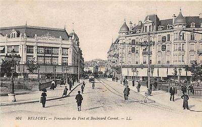 Cpa 90 Belfort Perspective Du Pont Boulevard Carnot