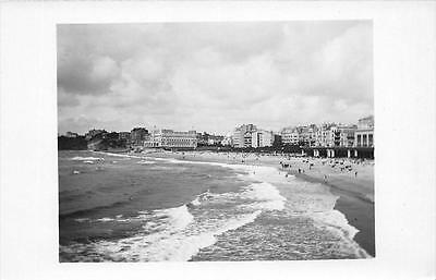 Cpa 64 Biarritz Carte Photo La Plage