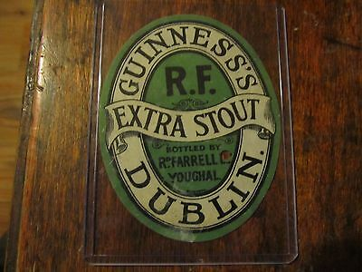 GUINNESS Extra Stout Bottle Label Richard Farrell Youghal