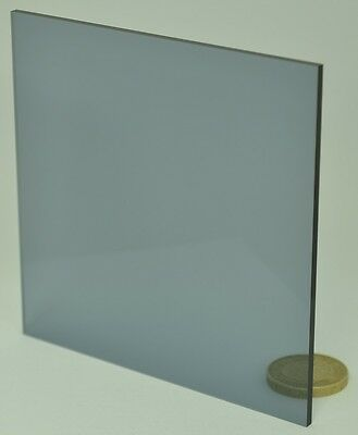 Neutral Tint Grey 9T20 Perspex Acrylic Sheet Material 8mm 280mm x 110mm offcut