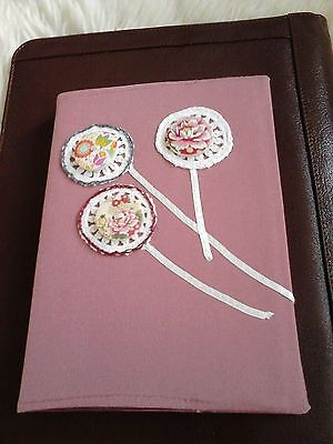 2017 diary A/5 with button/crochet/ribbon decoration,