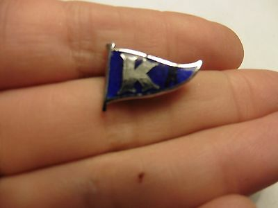 Vintage K  Flag Badge Nautical , By F &s
