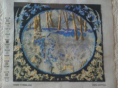 """RRP £50 """"BLUEBELL WOOD"""" FLORAL TAPESTRY NEEDLEPOINT KIT-42cms x 37cms"""