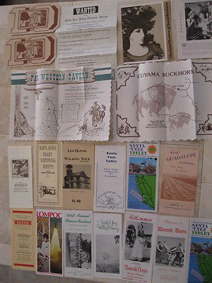 LOT of 20 Brochures Pamphlets & More from Santa Barbara County California