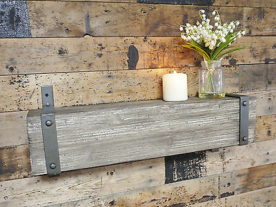 Wood Effect Industrial Warehouse Style Block Shelves