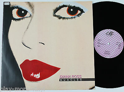 "DIANA ROSS Muscles (long vers) 12"" vinyl UK 1982 Capitol plays EX!"