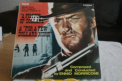 FILM-Ennio Morricone-A Fistful of Dollars & For a Few Dollars More-UK LP-EX-1970