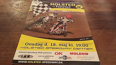 Holsted V Fjelsted--Danish League--Speedway Programme--18Th May 2011