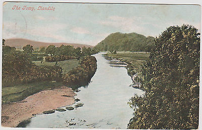 Antique Postcard Of The Towy, Llandeilo. Posted Llandilo S.o. Before 1910