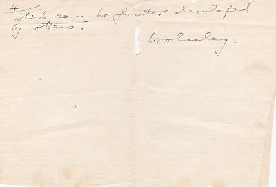 Field Marshal Garnet Wolseley Autograph - 19th Century British Army Officer